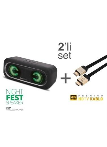 Polo Smart Polo Smart Fs37 Kablosuz Hoparlör + Psm54 Premium 4K 2 m Kaplama Hdmı Kablo Renkli
